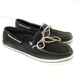 Timberland Earthkeepers Navy Suede Boat Shoes 5